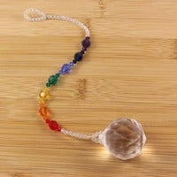Beaded Rainbow Seven Chakra Window Suncatcher Prism Crystal