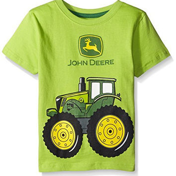 John Deere Little Boys' Big Tractor T-Shirt, Lime Green, 3T