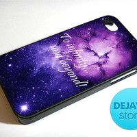 To Infinity And Beyond Quote Galaxy iPhone 4 / 4S Case