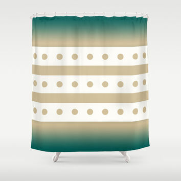 Tie Dye Dots Shower Curtain by Eileen Paulino