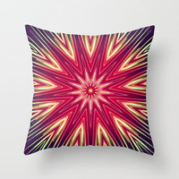 Neon Burst Throw Pillow by Abstracts by Josrick