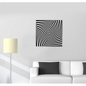 Wall Decal Optical Illusion Shape Geometry Infinity Vinyl Sticker (ed1132)