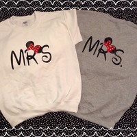 Free Shipping-Disney Inspired MRS & MRS Same Sex Matching Sweatshirts
