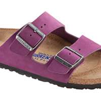 Arizona Soft Footbed Magenta Purple Nubuck Sandals | Birkenstock USA Official Site