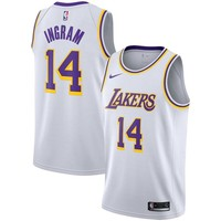 Men's Los Angeles Lakers Brandon Ingram Nike White Swingman Jersey - Association Edition - Best Deal Online