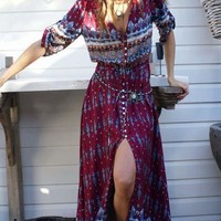 Casual Boho Casual Print A Line Dress