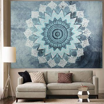 Bohemian Mandala-Tapestry Wall Hanging Sandy Beach Picnic Throw Rug-Travel Mattress - Huge Size