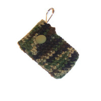 Camo  Key chain Pouch - Green , Brown , Black