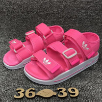 Adidas Casual Fashion Buckle Flats Sandals Shoes