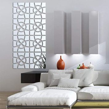 Intricate Stitch Mirrored Wall Sticker Decal