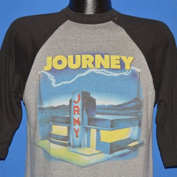80s Journey Raised on Radio World Tour 1986 t-shirt Medium