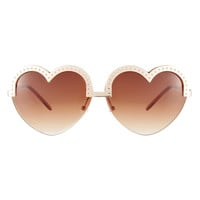 ASOS Heart Shape Sunglasses at asos.com