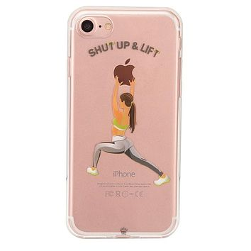 Shut Up & Lift iPhone Case Brown Hair
