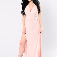 Kiss Me Goodbye Dress - Blush