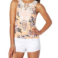 Crochet Floral Fitted Tank
