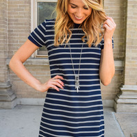 The Good Life Striped Shift Dress