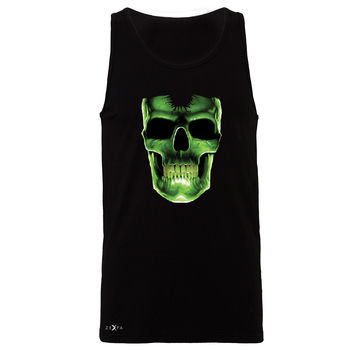 Zexpa Apparel™ Skull Glow In The Dark  Men's Jersey Tank Halloween Event Costume Sleeveless