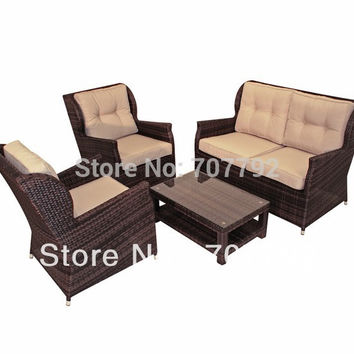 2016 High Back Rattan Sofa Set