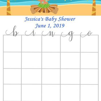 10 Luau Baby Shower Bingo Cards
