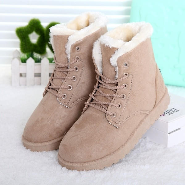 6df028a284af Fashion Winter Women Flat Lace-Up Warm from Bling Bling Deals