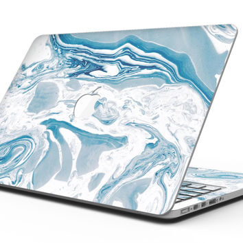 Mixtured Blue 57 Textured Marble - MacBook Pro with Retina Display Full-Coverage Skin Kit