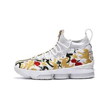 7db7cf7f39fd Best Deal Online KITH x Nike LeBron James 15 XV Zip Floral Men Basketball  Shoes Sport