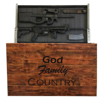 God Family Country Pallet Concealment Wall Decor Burnt Natural Wood Addition