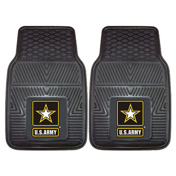 US Army Armed Forces Heavy Duty 2-Piece Vinyl Car Mats (18x27)