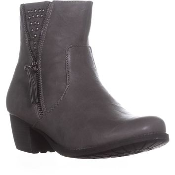 Easy Street Rylan Studded Ankle Boots, Grey, 7.5 W US