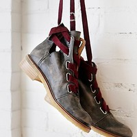 Free People Womens Jenning Lace Up Boot