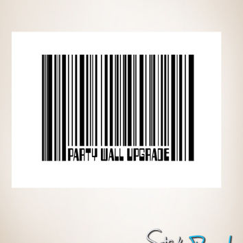 Graphic Wall Decal Sticker Party Wall Barcode #GWray104