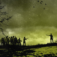 The walking dead digital print zombie art original geek dark gothic poster horror movie alternative
