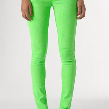 dELiAs > Britt Low-Rise Skinny Color Jean Bright Green > jeans > shop by wash > color