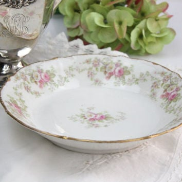 Limoges Bowl / Pink and White Roses / Elite Works (Bawo & Dotter)