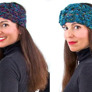 Hand Knit Head-Wrap Ear Warmers