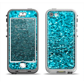 The Turquoise Glimmer Apple iPhone 5-5s LifeProof Nuud Case Skin Set