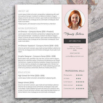modern resume template instant download word cv template modern professional