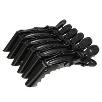 6 Pcs Plastic Crocodile Salon Hair Clips Hairdressing Tool Clamps