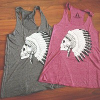 The Love of pretty — Native skull tank