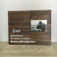 Fathers Day Gift Husband Gift Dad gift from kids first fathers day Birthday Gift for Dad father sign dad sign wedding gift for dad wood sign