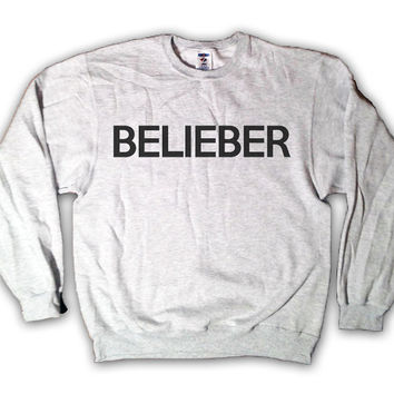 "Holiday Sale - ""Belieber"" - Justin Bieber Sweatshirt x Crewneck x Jumper x Sweater - All Sizes Available"