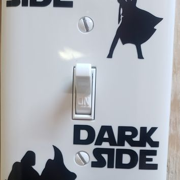Star Wars Darth Vader Luke Skywalker Light Switch Cover Plate Decal