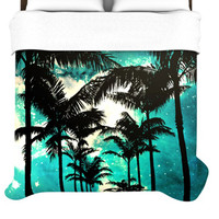 KESS InHouse Palm Trees and Stars Duvet Collection