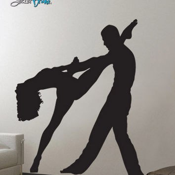 Vinyl Wall Decal Sticker Ballroom Dancer Dual #473