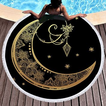 Moon Beach Towels Boho Swimwear Bathing  Blanket
