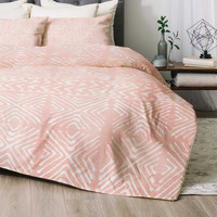 Deny Designs Stars Above Comforter Set in Coral
