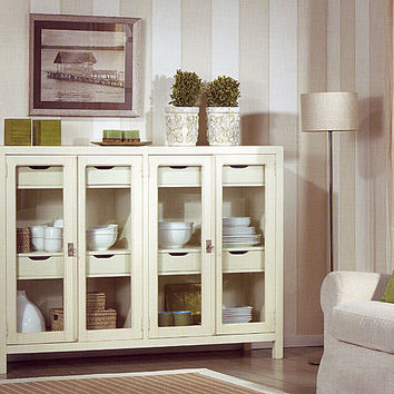 Aparador borneo cristal blanco muebles from for Muebles coloniales