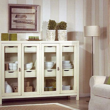 Aparador borneo cristal blanco muebles from - Muebles coloniales ...