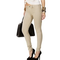 SALE-Mocha Stretch Skinny Pants