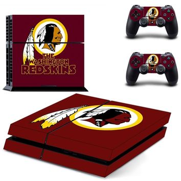 The Washington Redskins PS4 Skin Sticker Decal For Sony PlayStation 4 Console and 2 Controllers PS4 Skins Stickers Vinyl